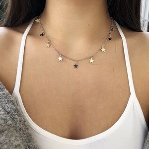 3 for $25✨simple sequin star necklace